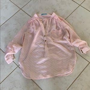 Francesca's collections Pink sheer top
